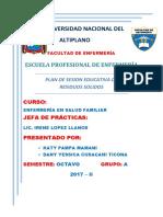 Plan de Sesión Educativa Residuos