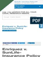 01 Enriquez v. SunLife- Insurance Policy