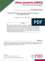 Artigo - Performance Assessment of a Simulation Model for PV Modules