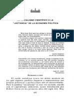 El Socialismo Científico o La Jactancia de La Economía Política_Pablo Levín_NE.18.04_2002
