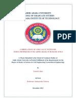 CBR MDD Index Correlation Study-Addis Ababa University_2013