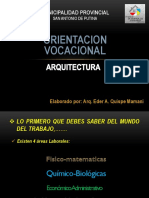 ORIENTACIÓN VOCACIONAL ARQUITECTURA