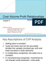 Cost Volume Profit Relationships
