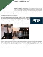 Simple Guitar Repairs
