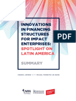Innovations in Financing Structures for Impact Enterprises- Spotlight on Latin America 2