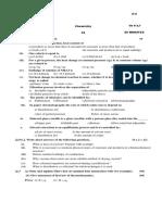 Chemistry Test 6 (CH 7) 27-12-2013