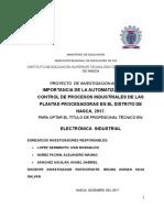 Investigacion Aplicada Automatizacion Electronica 2007