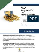 Plan y Programacion de Mantenimiento