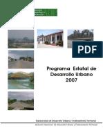 Programa Estatal de Desarrollo Urbano 2007
