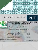 Registros de Produccion (PLT)