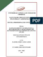 Financiamiento Rentabilidad y Microempresa Castro Casimir Bladimir Andres