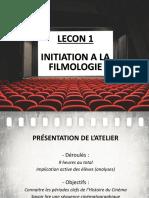 Lecon 1 - H1 Initiation Filmologie Vocabulaire.ppt