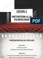 Lecon 1 - H1 Initiation Filmologie Vocabulaire.ppt