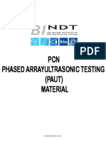 PCN Phased ArrayUltrasonic Testing (PAUT) Welds Course Material