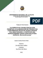 Alternativas Tecnologicas Que Permitan La Elaboracion de Productos Conformados Ricos en AG Poliinsat