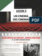 Lecon 3 - Des Cinemas H7 (Le cinéma français des années 1930-40)