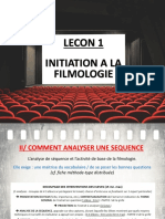 Lecon 1 - H2 Initiation Filmologie Analyse