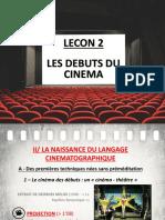 Lecon 2 - Debuts Du Cinema H4 (Griffith et la naissance du langage cinématographique)