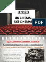 Lecon 3 - Des Cinemas H8 (Le cinéma européen au sortir de la 2GM)
