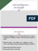 Artificial Intelligence – An Insight