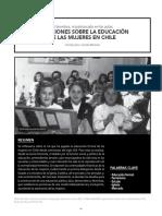 REFLEXIONES SOBRE LA EDUCACIÓN  DE LAS MUJERES EN CHILE