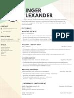 ainger alexander resume 2018