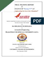 Air India Industrial Training Report