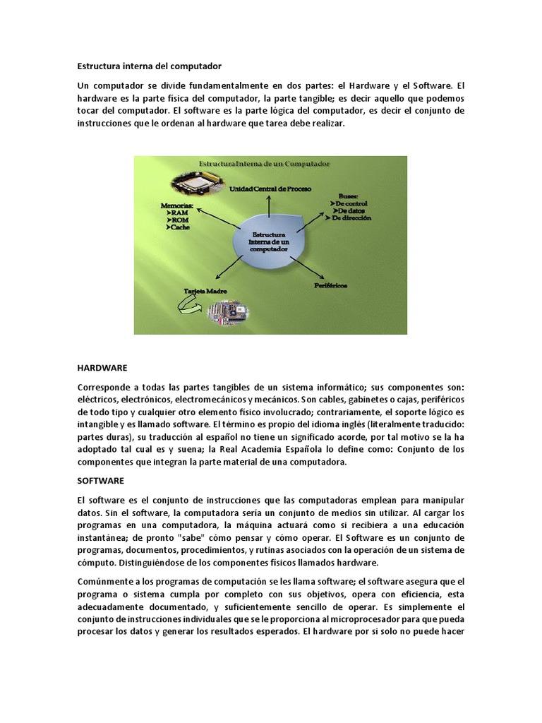 Estructura Interna Del Computador Virus Informático