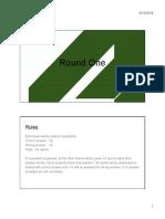 Round I Printout