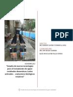 Nuevas tecnolgías para tratamiento de agua residual