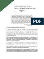 Charles Sanders Peirce Definicion y Clasificacion Del Signo