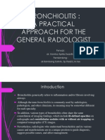 Bronchiolitis a Practical Approach for the General Radiologist