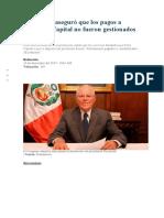 Odebrecht Aseguró Que Los Pagos a Westfield Capital No Fueron Gestionados Por PPK