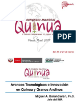 Conferencia Vi Congreso Mundial Quinua - Re- Mb 21mar17
