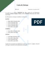 Modelo de Carta Para Entregar Documentos