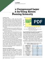 Estimate Compressed Layer Depth