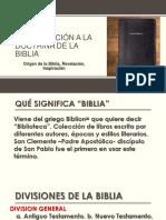 Introducción a La Doctrina de La Biblia