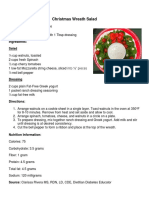 Recipe for Christmas Wreath Salad -Clarissa Rivera- 11-3017