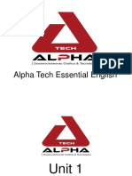 Alpha Tech Essential English Material