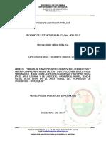 Aviso de Convocatoria Lp-003-2017