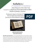 Metropolitan Museum Acquires Hebrew Bible