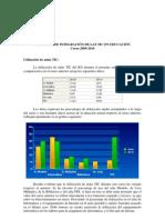 INFORME SOBRE UTILIZACIÓN DE AULAS TIC - Curso 2009-2010