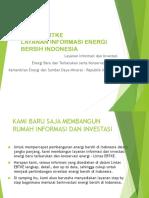 LINTAS EBTKE Profile Per 1 Agustus 2016 - Indonesia