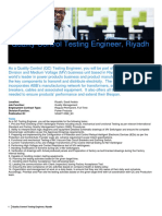 Data Overview - Quality Control Testing Engineer Riyadh