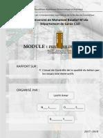 TP L'Essai de Controle de La Qualite Du Beton Par Les Essais Nondestructifs