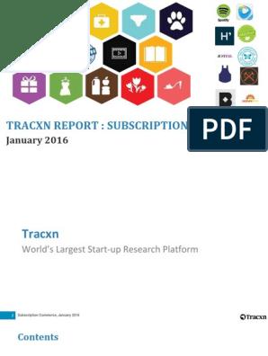 Tracxn Jan 2016 | Subscription Business Model | Software As