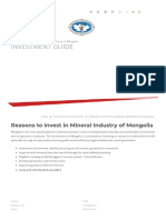 INVESTMENT GUIDE - Reasons to Invest in Mineral Industry of Mongolia 1p