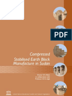 Compressed Stabilised Earth Block Manufacture in Sudan