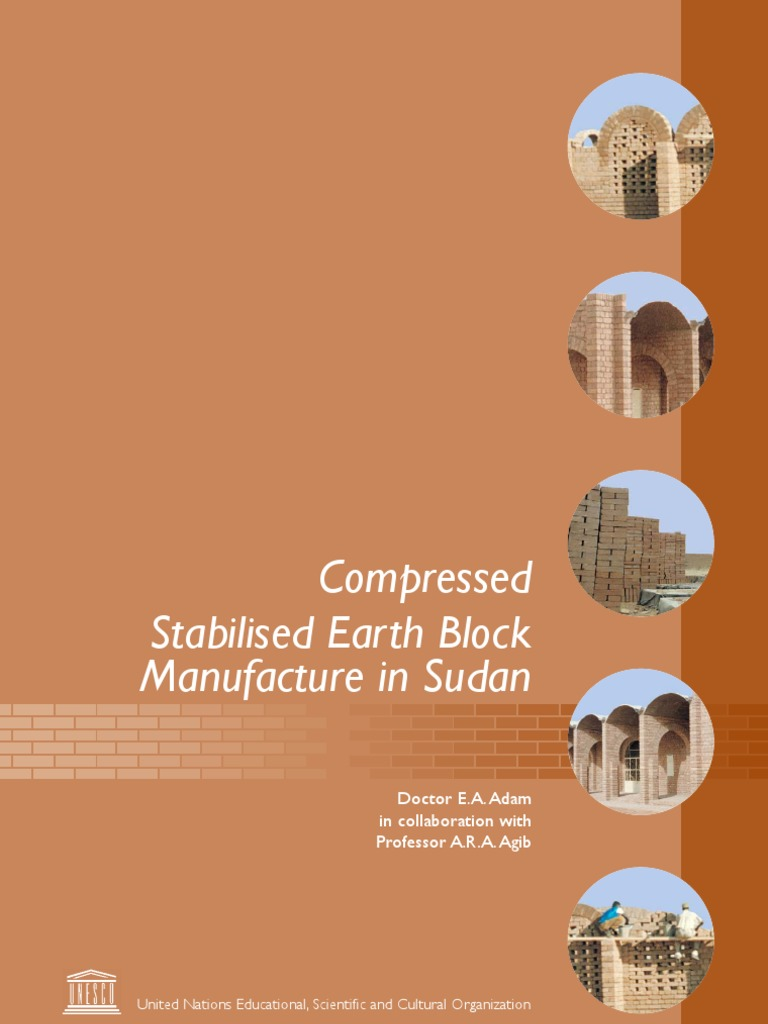 Compressed Stabilised Earth Block Manufacture in Sudan | Soil | Sand