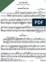 18 Duos, Bartok